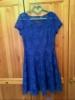 Гипюровое синее платье